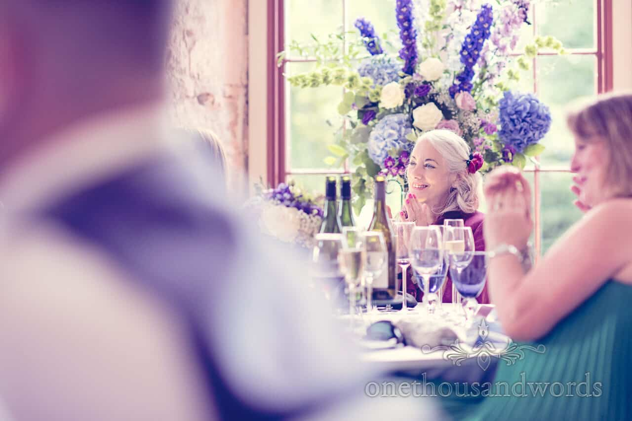 Wedding guest by Lulworth Castle Wedding Photographers