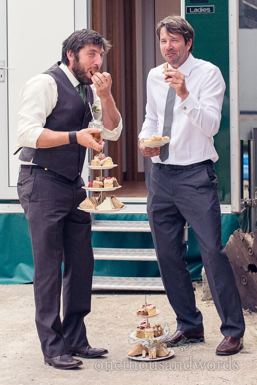 Wedding Guests Sneakily Eat High Tea Cakes