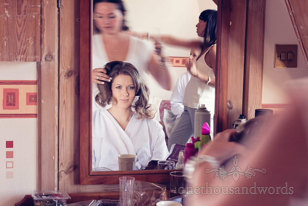 Wedding hairdresser at Purbeck House Hotel