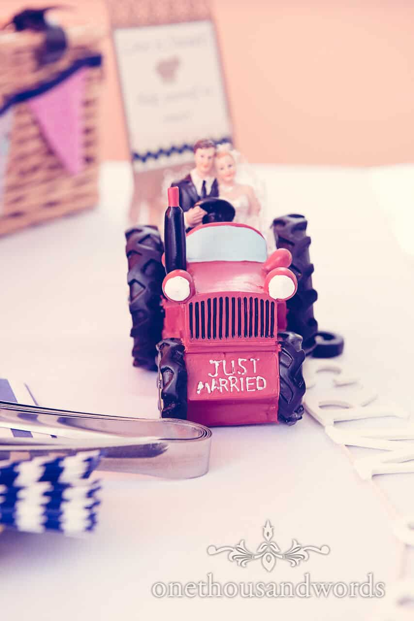 wedding tractor detail photograph