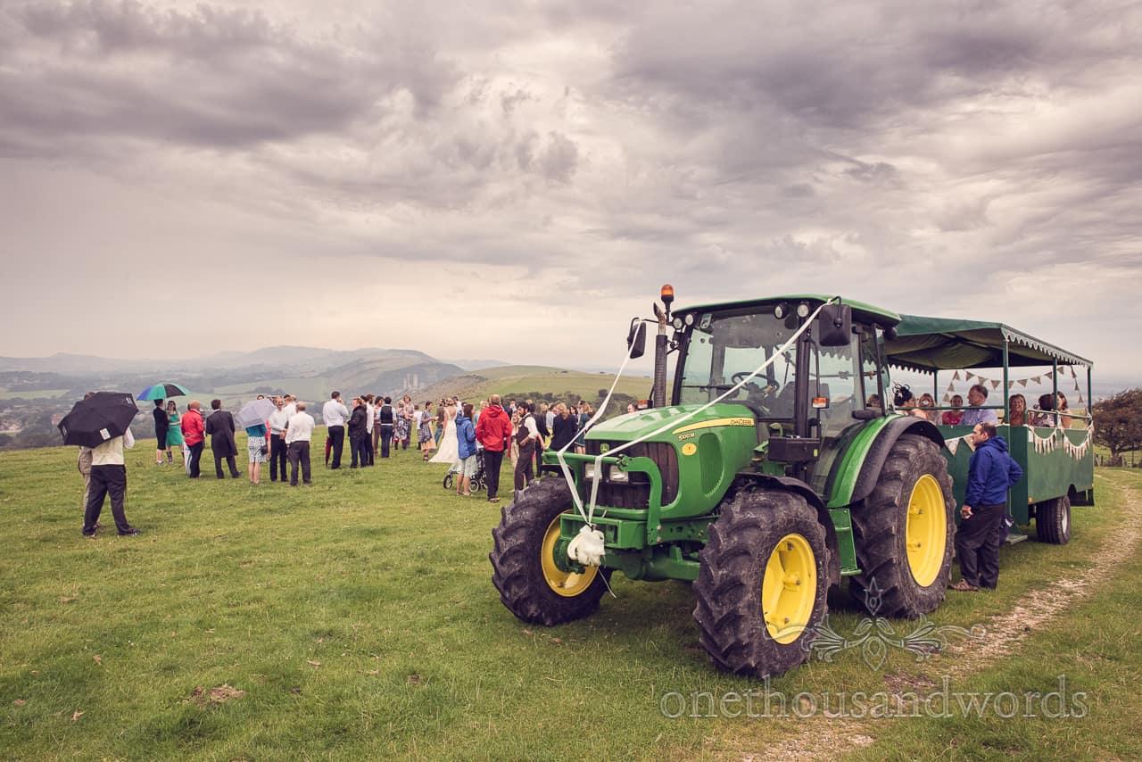 Wedding Tractor & Trailer Countryside Wedding in Dorset