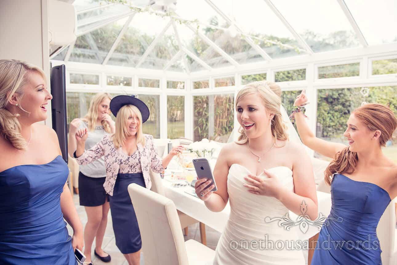 Bride and Bridesmaids on wedding morning