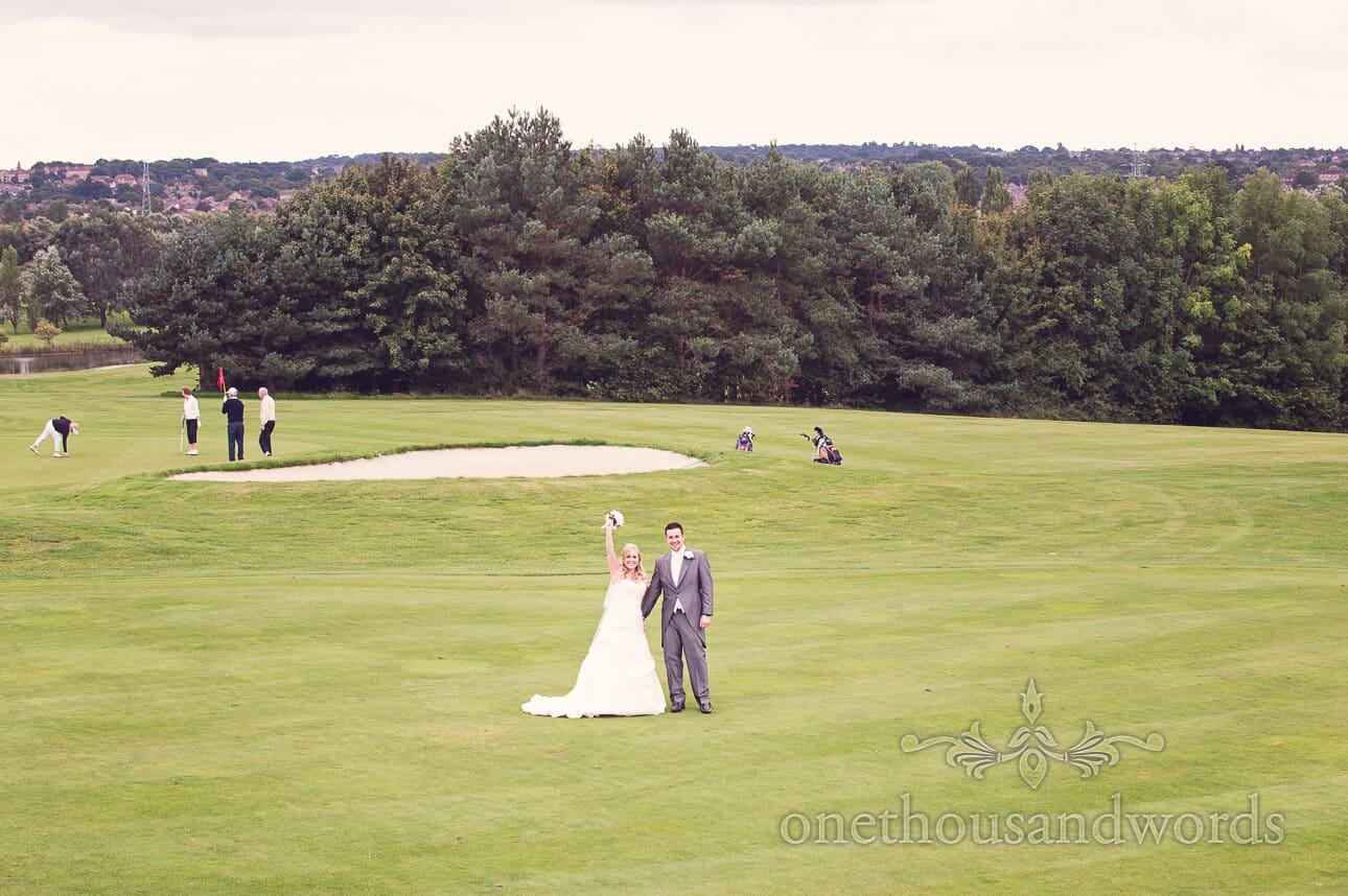 Bride and Groom at Dudsbury Golf Club Wedding