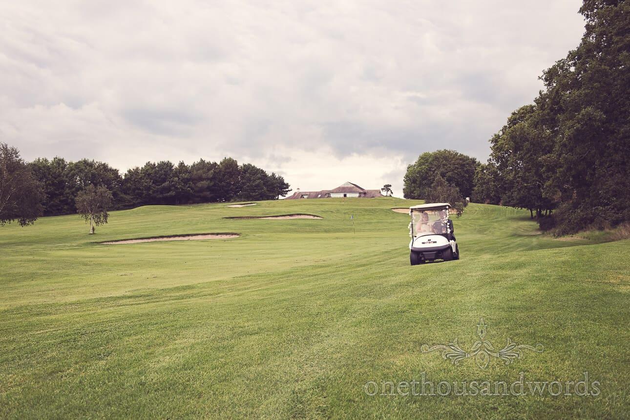 Ride in Golf Buggy at Dudsbury Golf Club Wedding