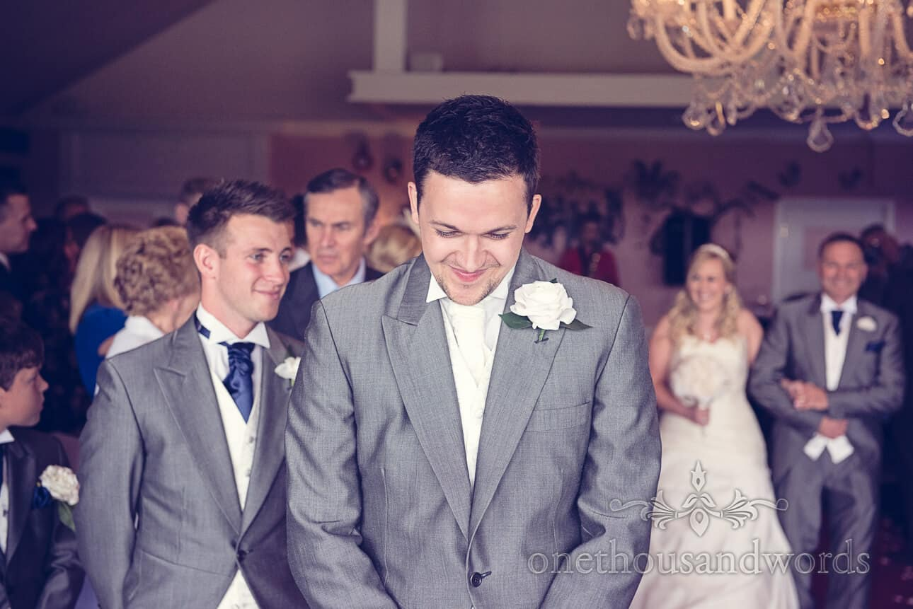 Bride is walked down the aisle by father