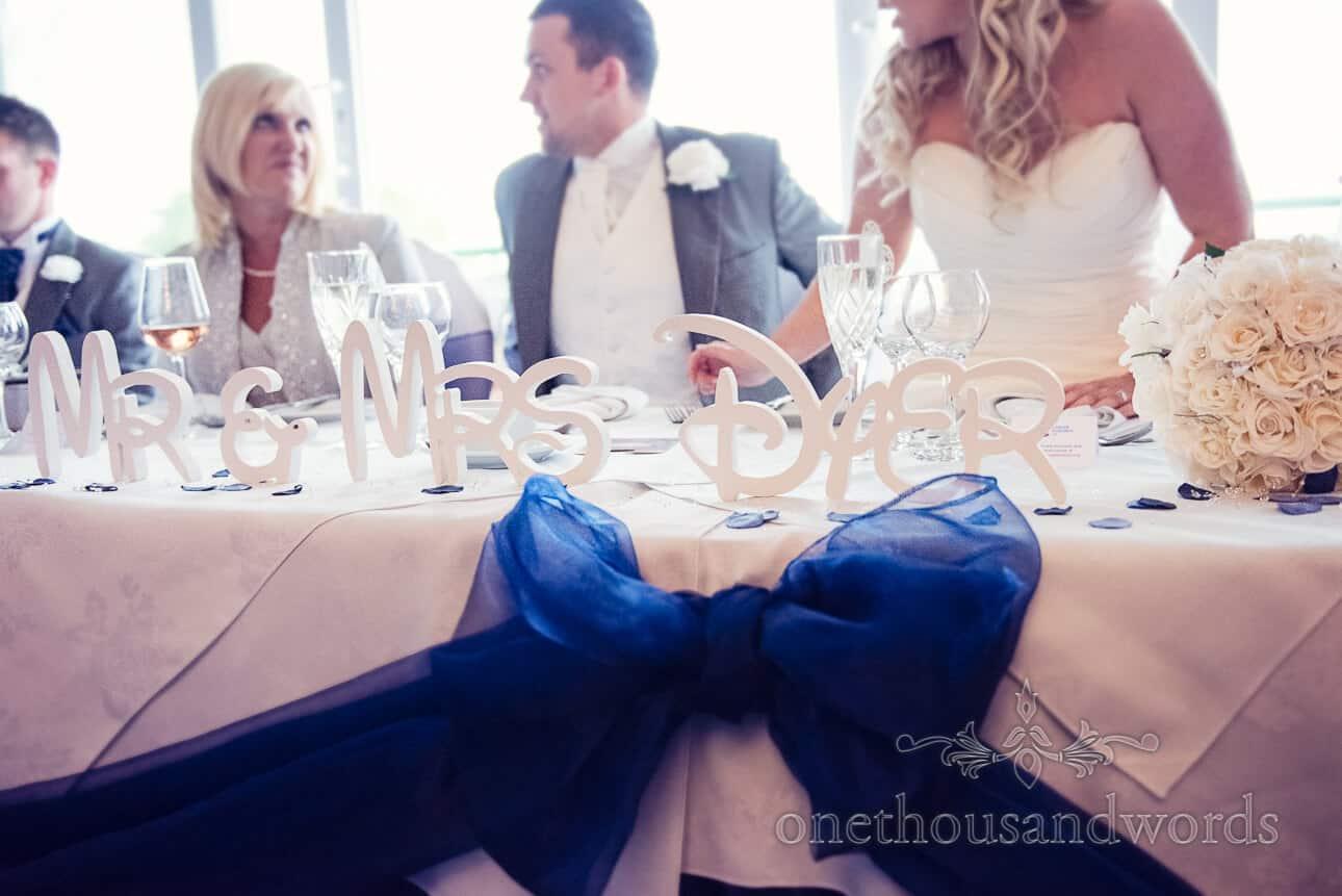 Disney style letters at Dudsbury Golf Club Wedding