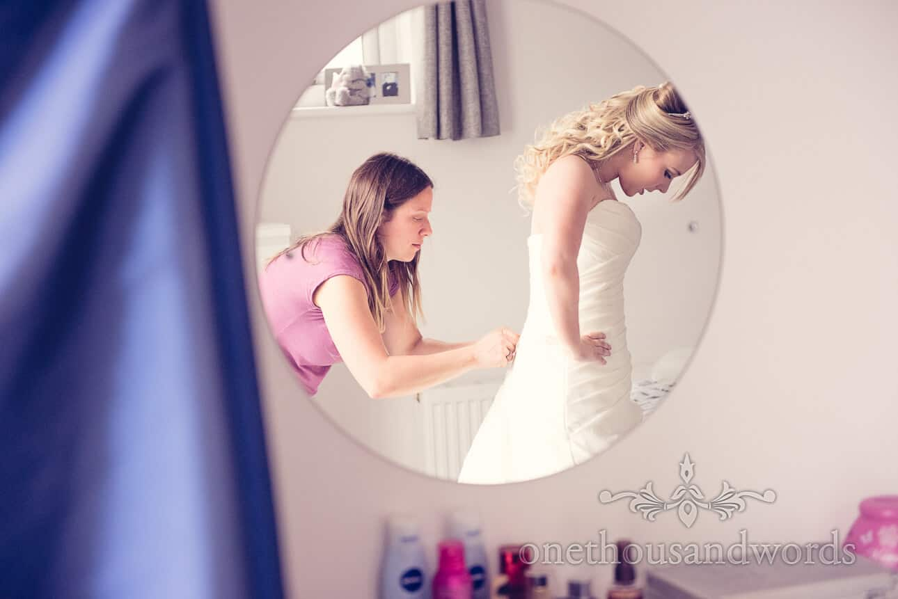 Final Adjustments to Brides dress are made