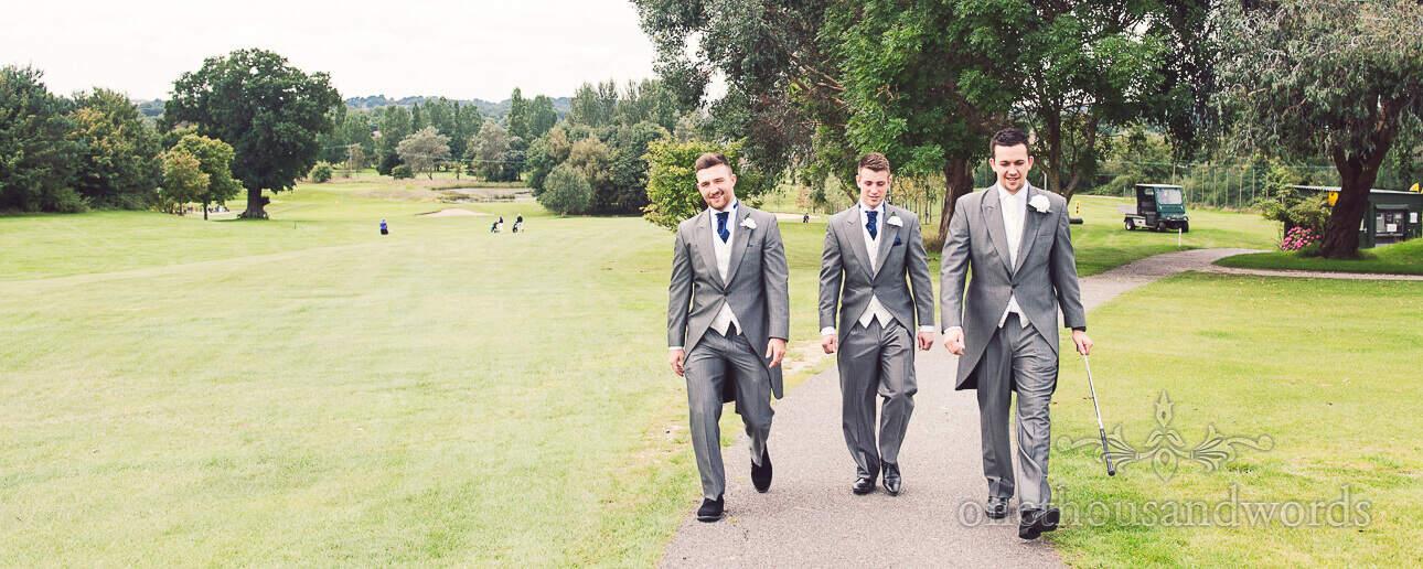 Groomsmen at Dudsbury Golf Club Wedding