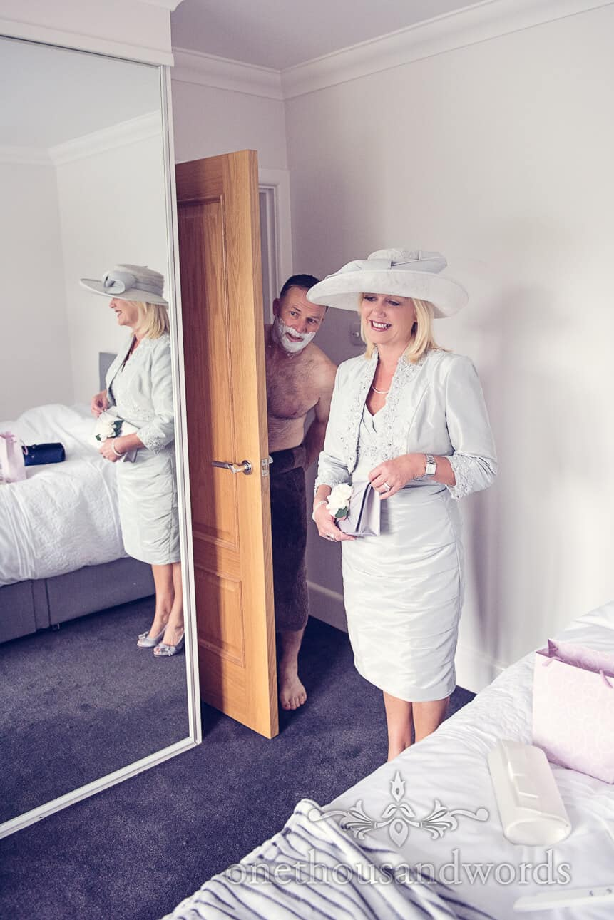 Mother and Father of the bride on wedding morning