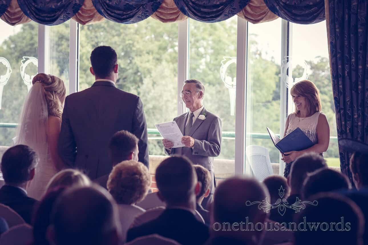 Reading at wedding ceremony