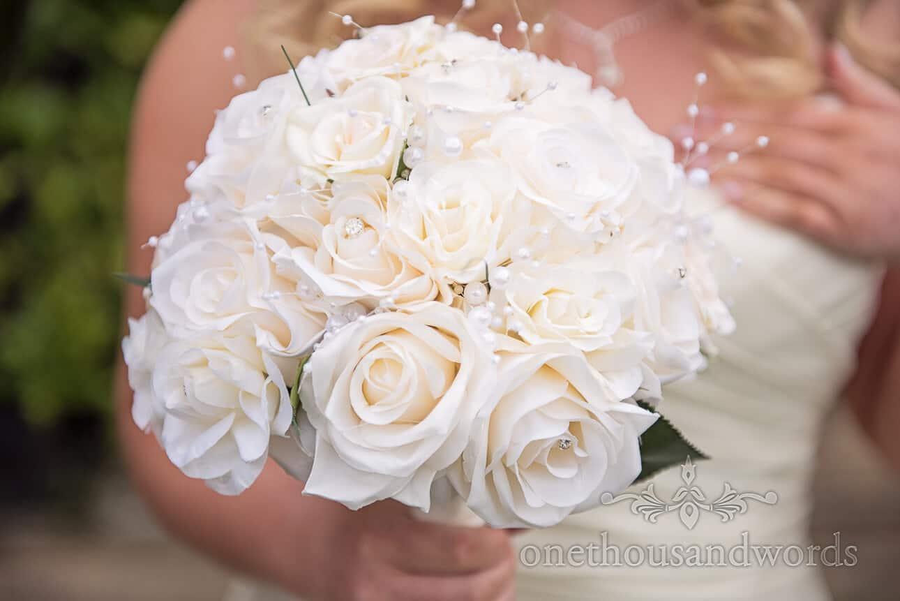 Silk Ivory wedding flowers