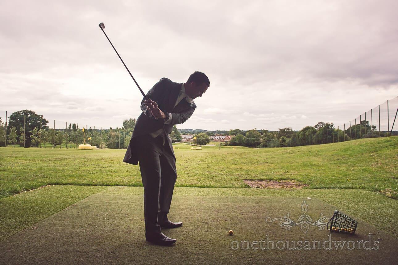 Driving range on Dudsbury Golf Club Wedding Morning