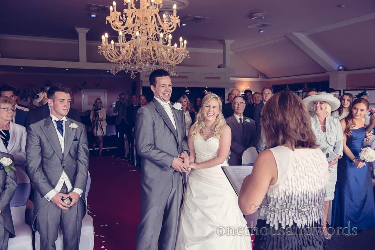 Wedding ceremony at Dudsbury Golf Club Wedding