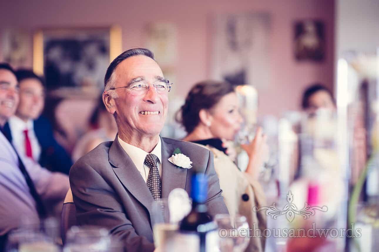 guest during speeches at Dudsbury Golf Club Wedding