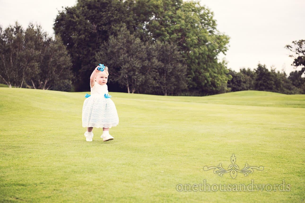 Flower girl at Dudsbury Golf Club Wedding