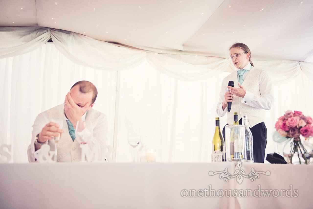 Best man speech at Parley Manor Wedding