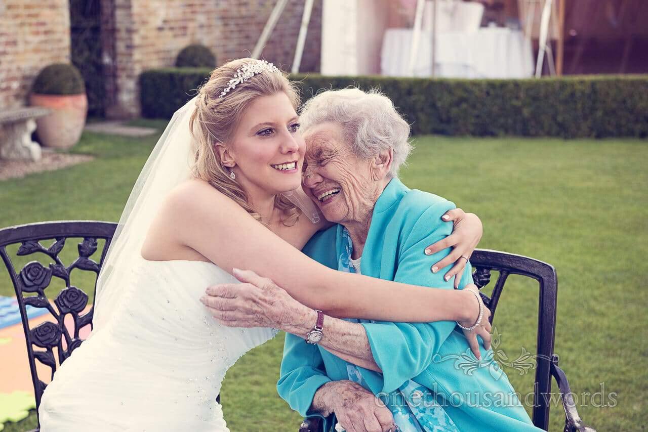 Bride and Gran at Parley Manor Wedding