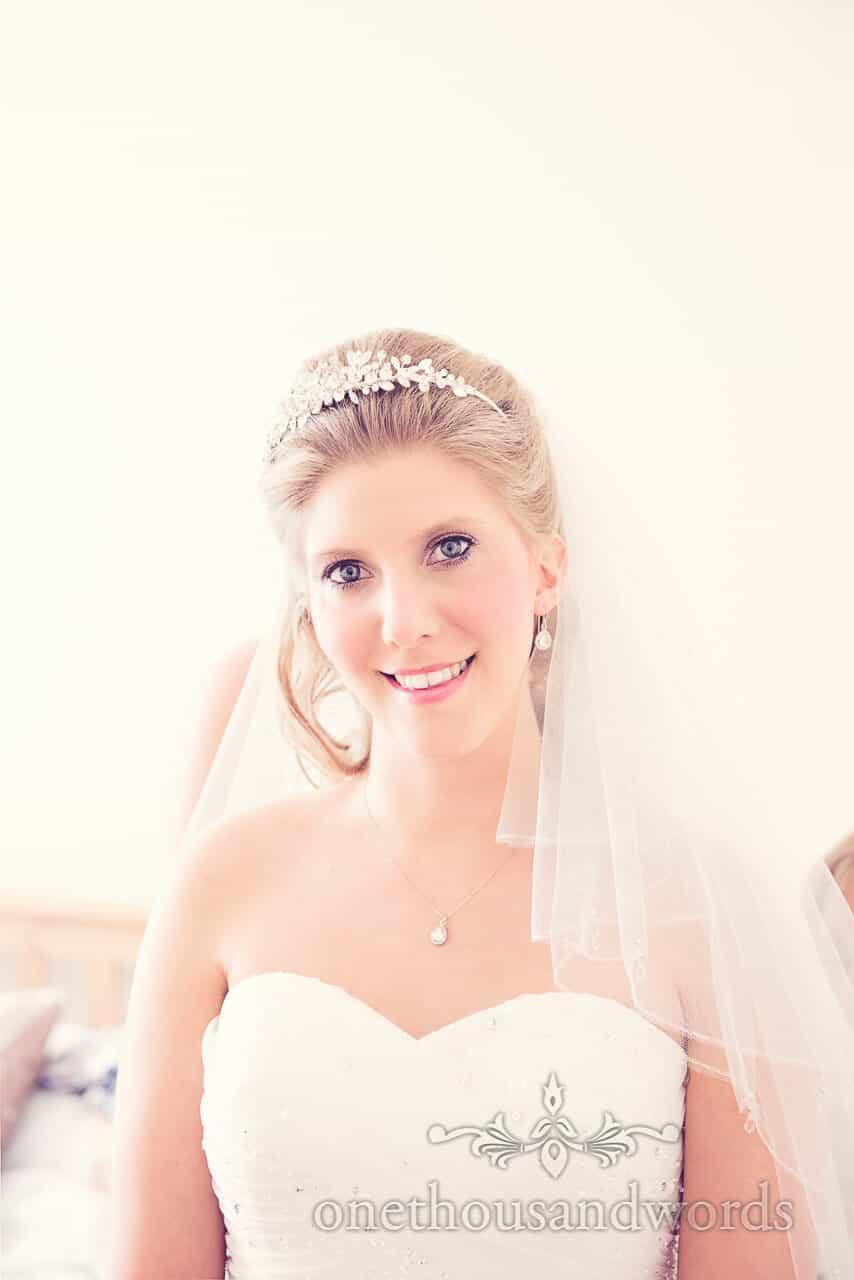 Bride at Parley Manor Wedding