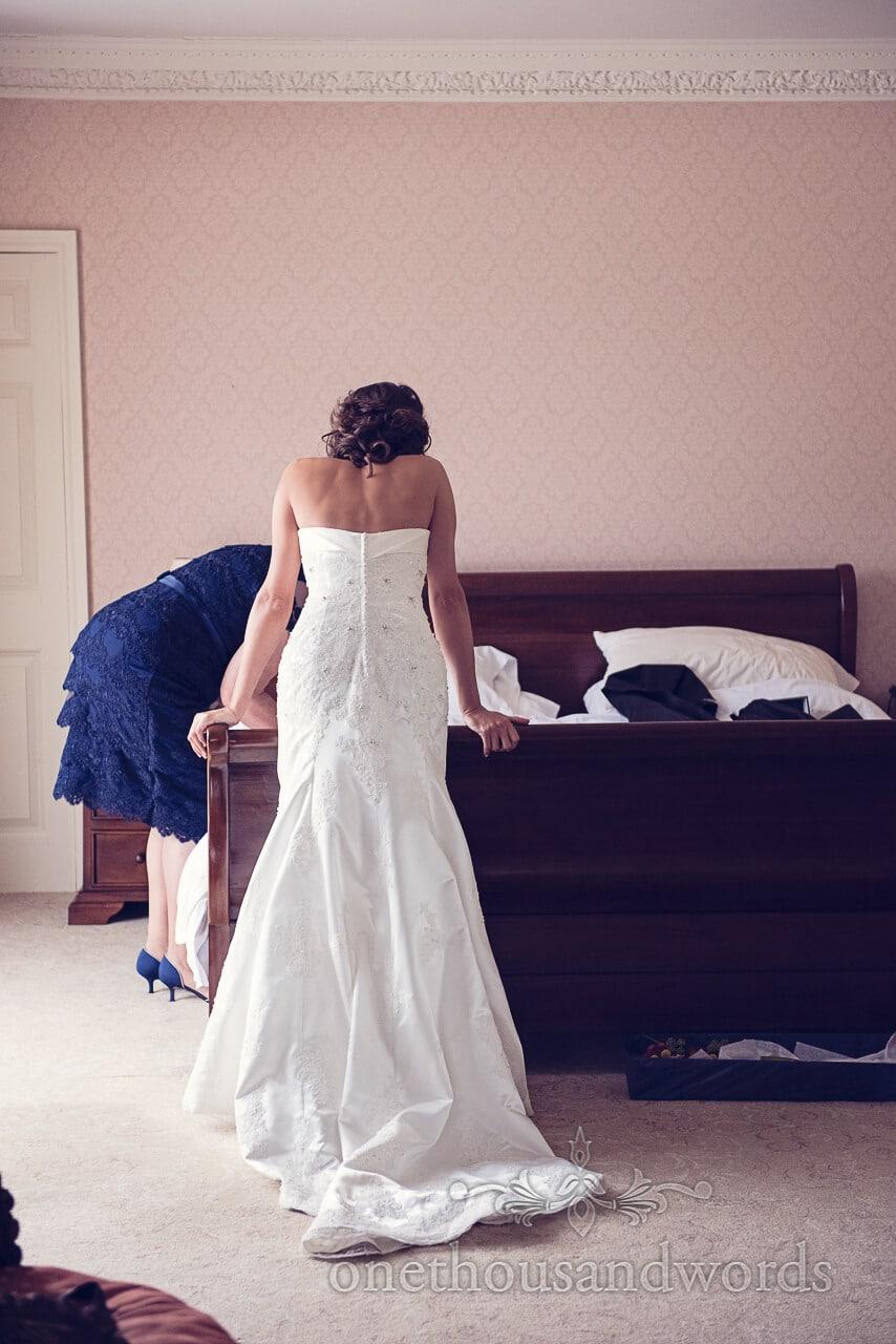 Bride at Studland Bay House Wedding