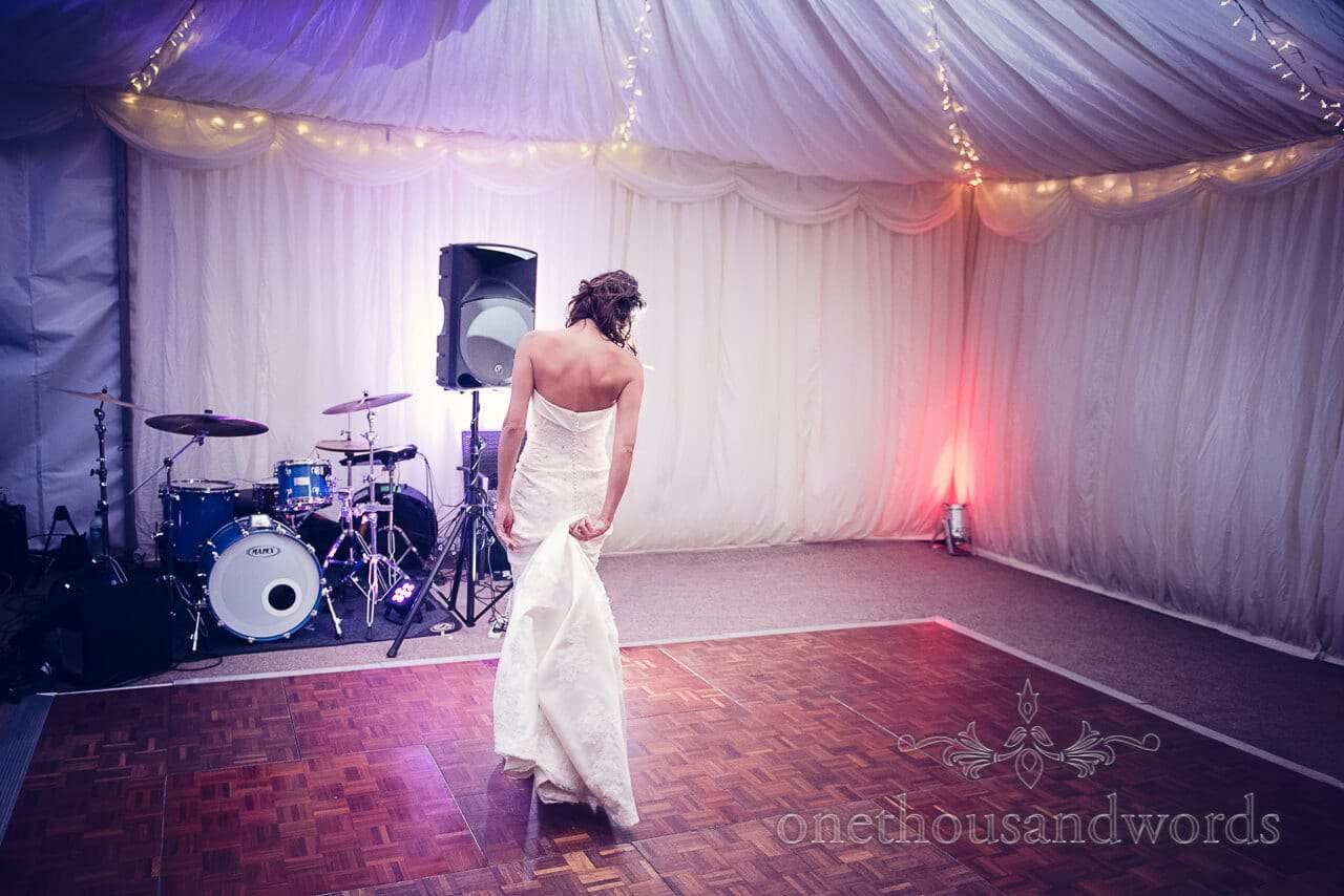 Bride on the dance floor Studland Bay House Wedding