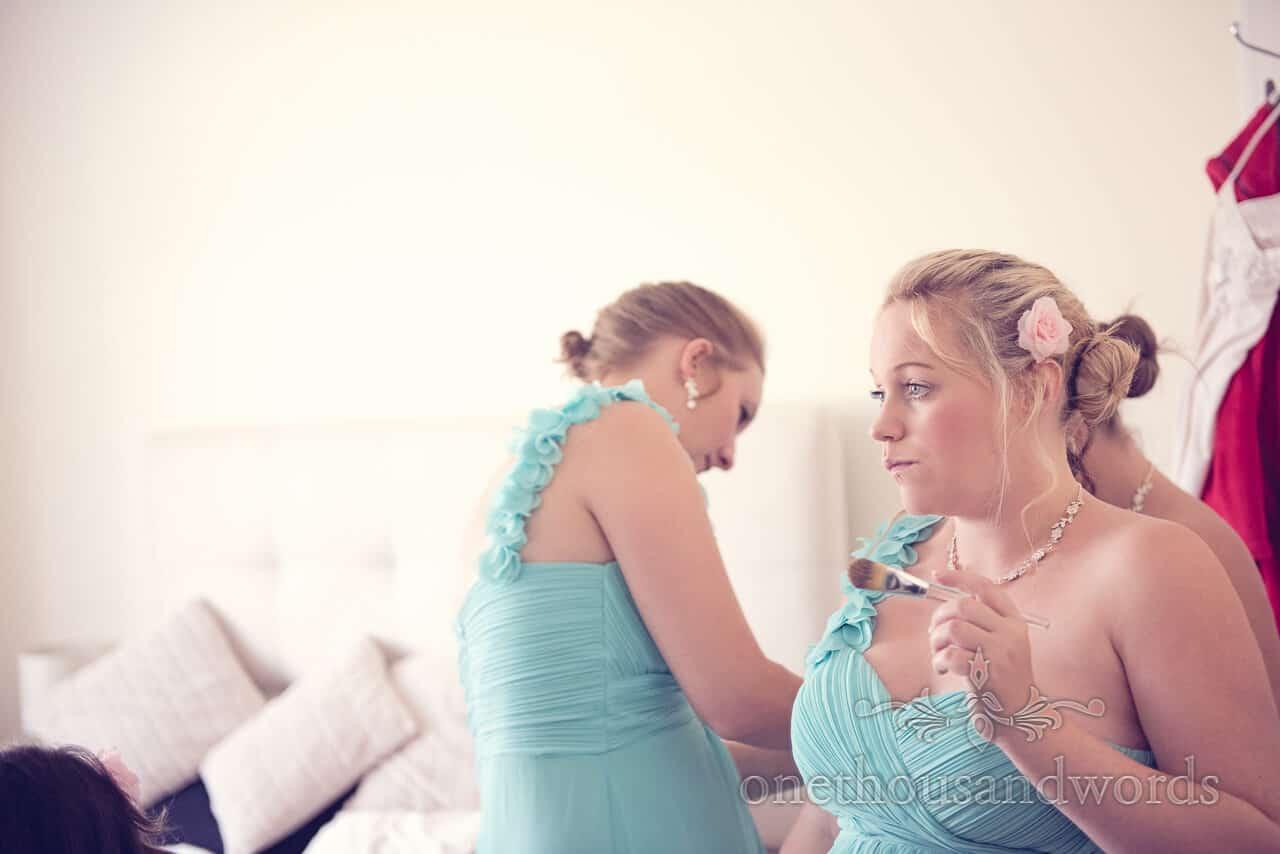 Bridesmaids before Parley Manor Wedding