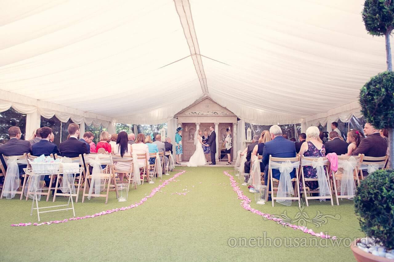 Civil Ceremony at Parley Manor Wedding