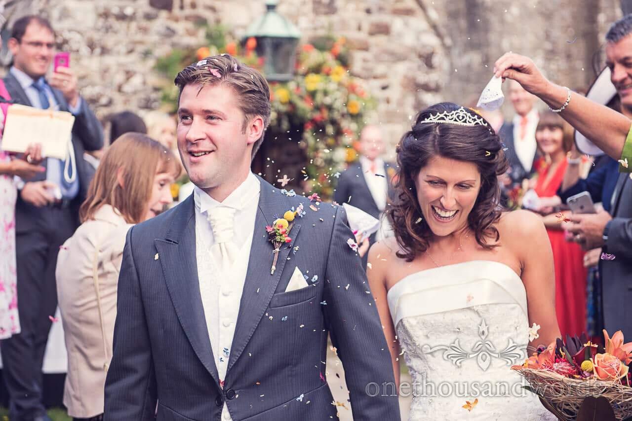 Confetti at Studland Bay House Wedding