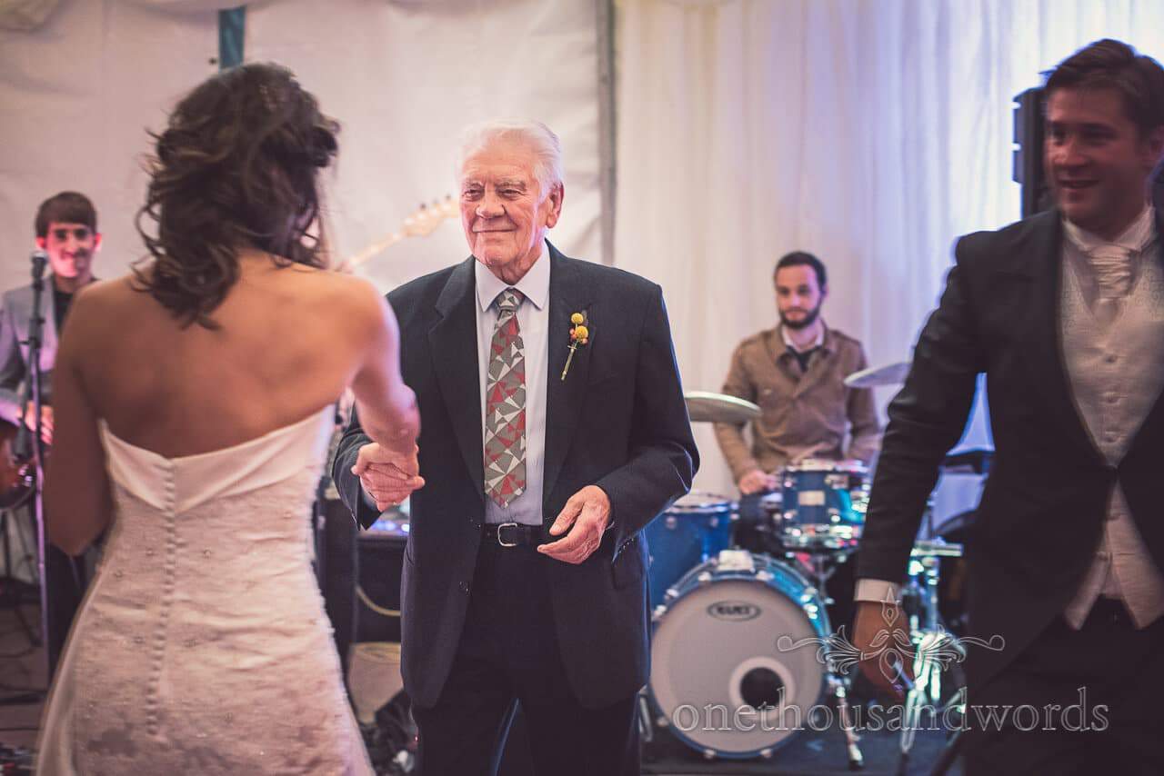 Dancing with the bride at Studland Bay House Wedding