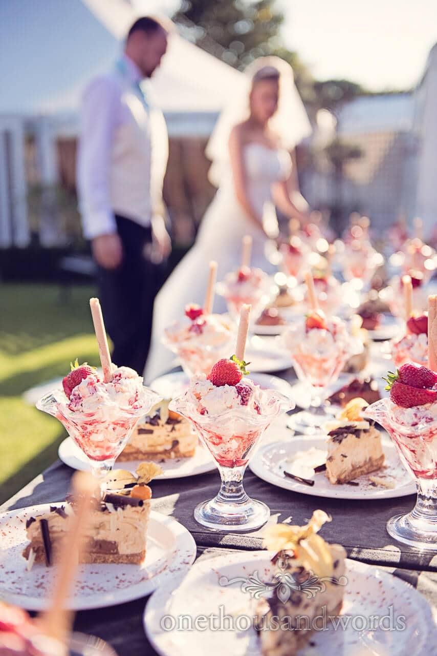 Desserts at Parley Manor Wedding