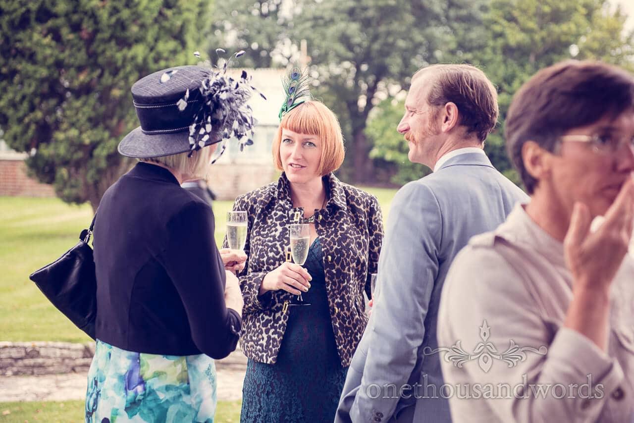 Drinks reception at Studland Bay House Wedding