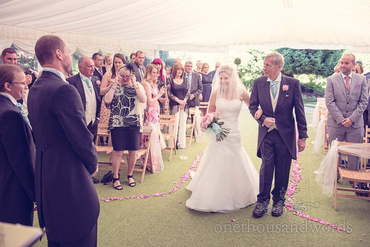 Father and Bride at Parley Manor Wedding