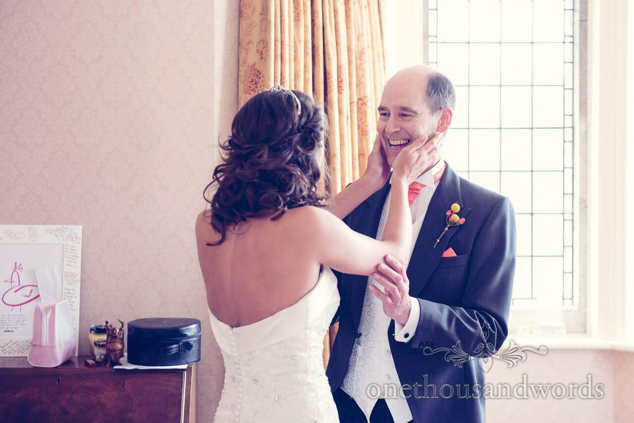 Father of the bride at Studland Bay House Wedding