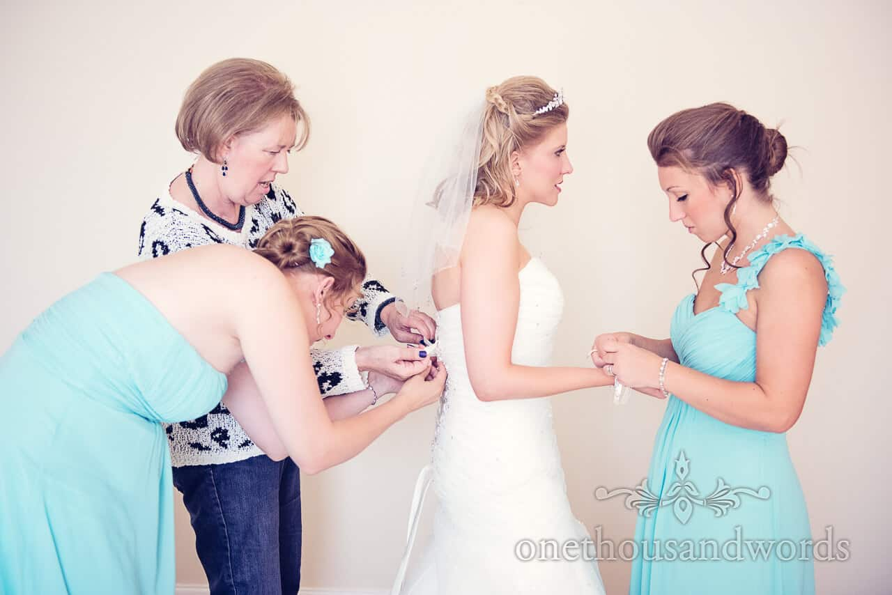 Final touches before Parley Manor Wedding