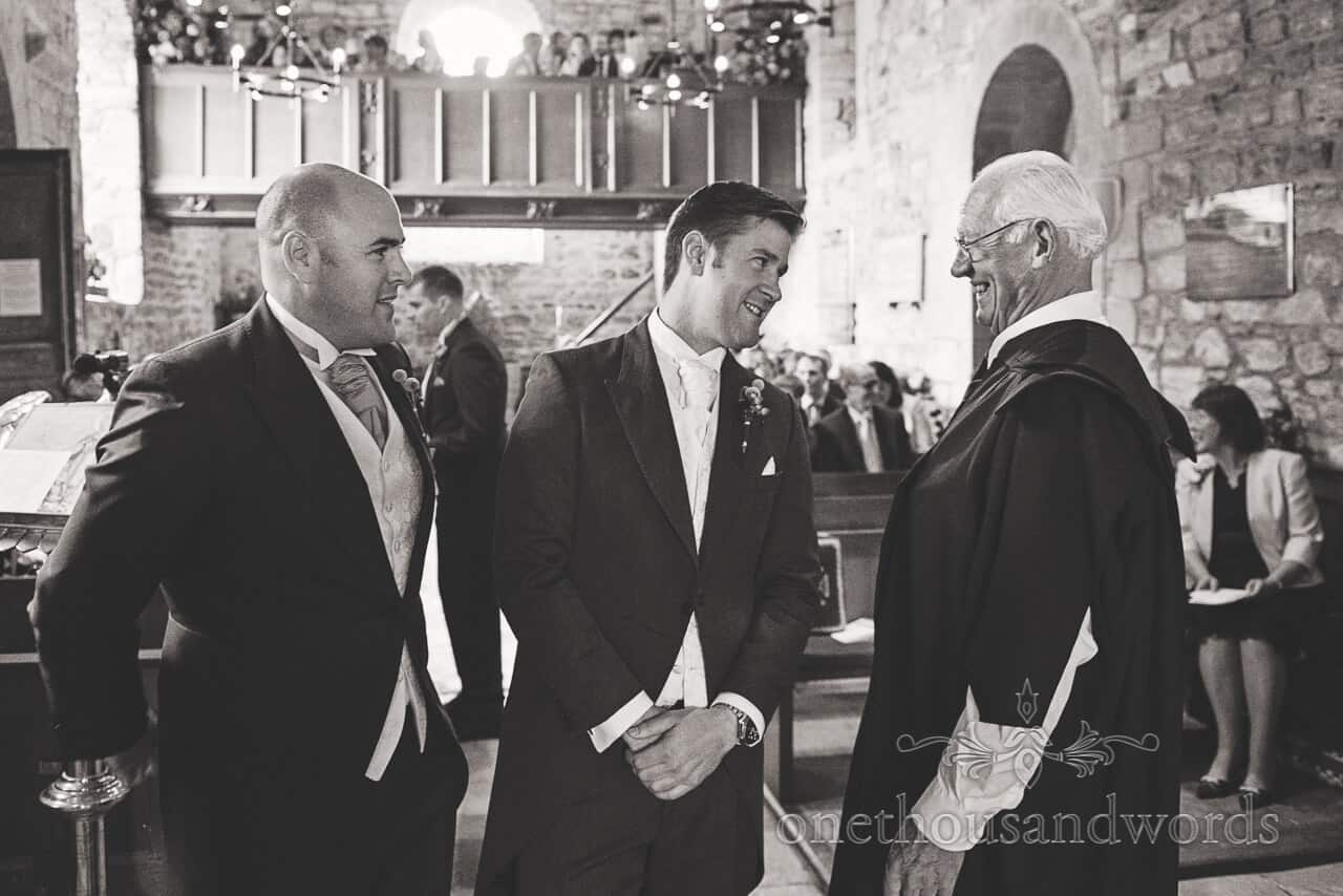 Groom and Best man at Studland Bay House Wedding