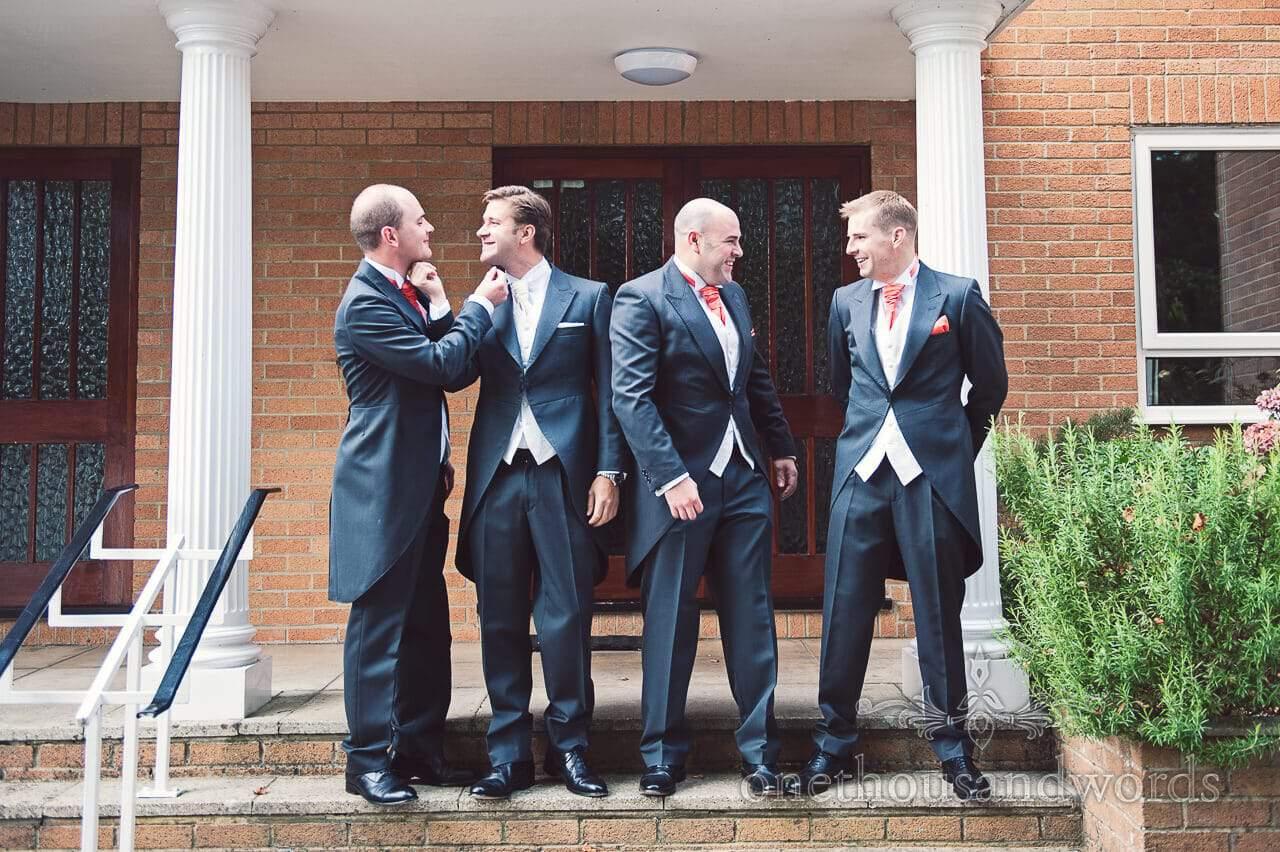 Groom and Groomsmen at Studland Bay House Wedding