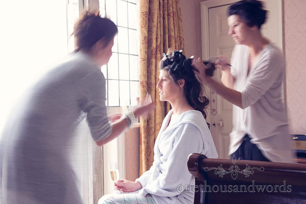 Hair and Make up at Studland Bay House Wedding