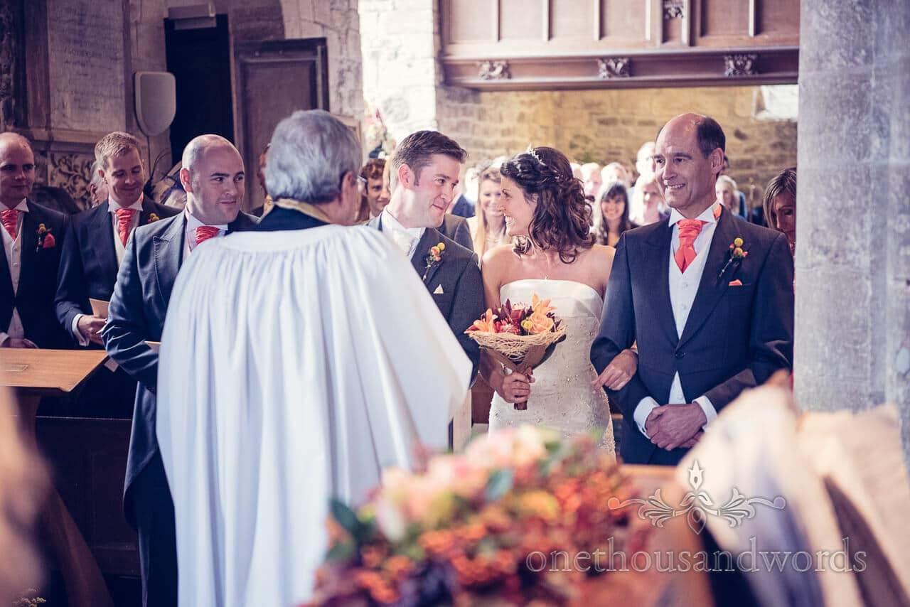 Inside the church at Studland Bay House Wedding
