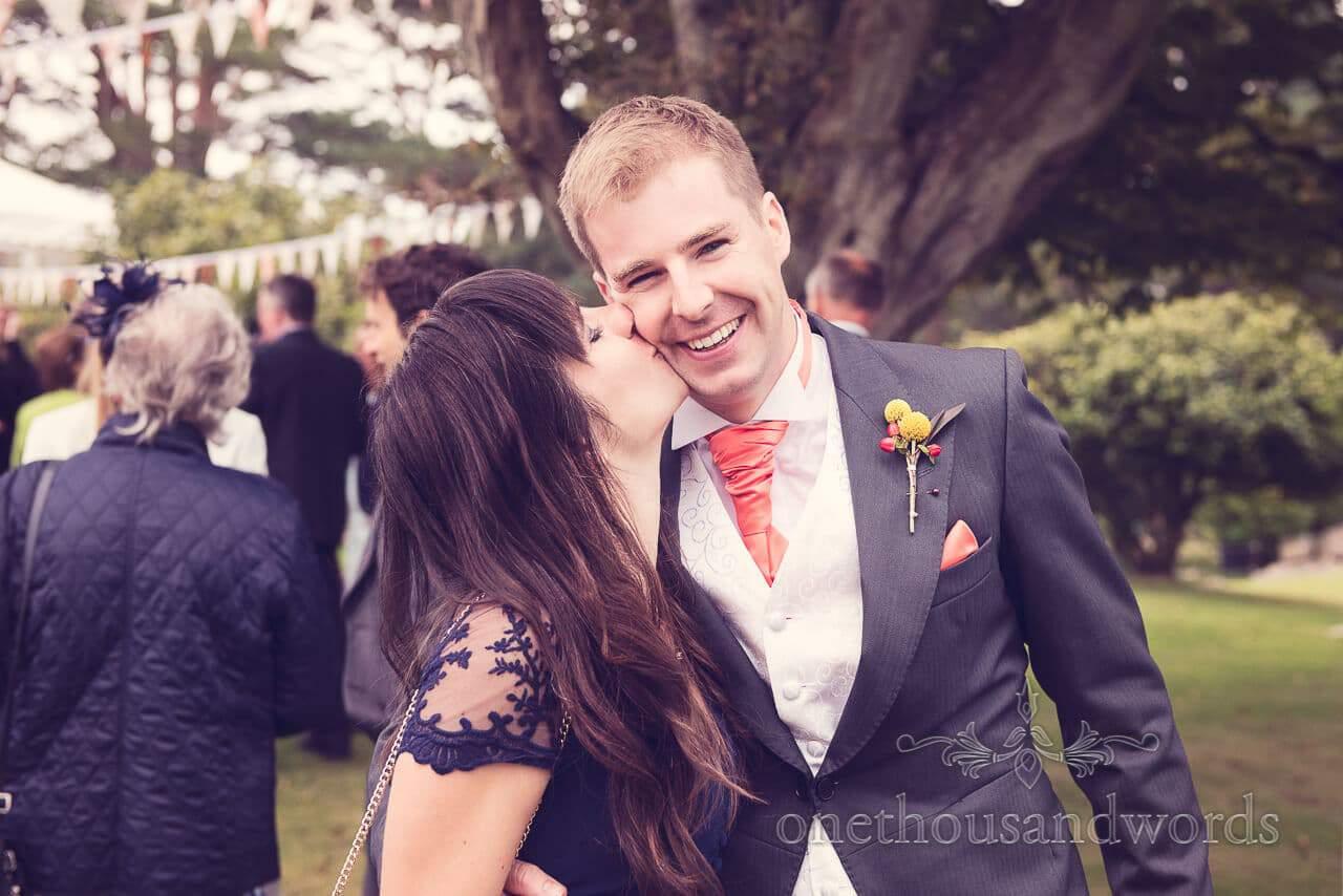 Kiss at Studland Bay House Wedding