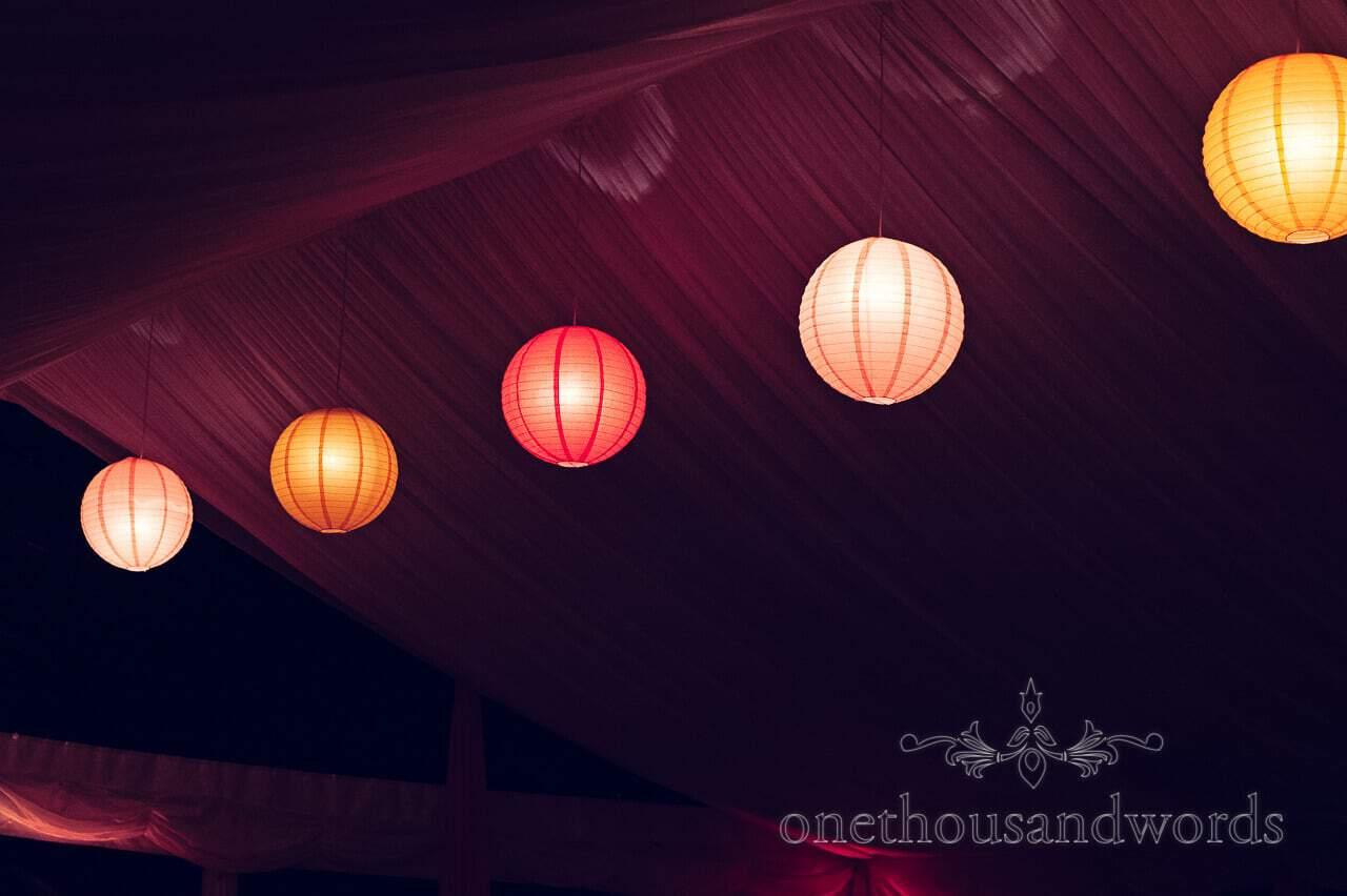 Lanterns at Studland Bay House Wedding