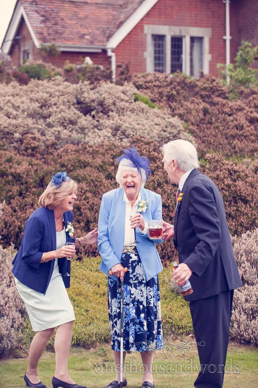 Laughter at Studland Bay House Wedding