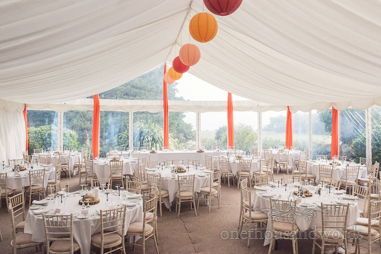 Marquee at Studland Bay House Wedding
