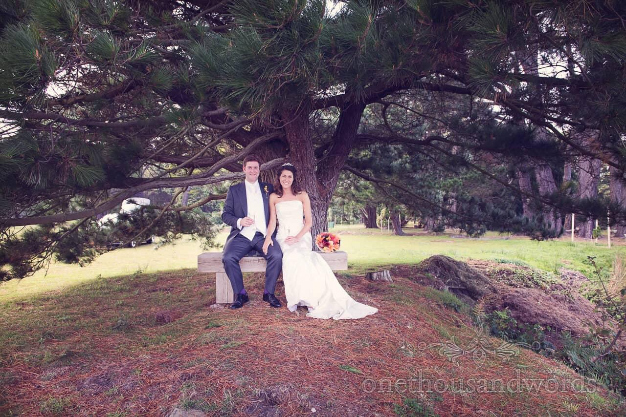 Newlyweds at Studland Bay House Wedding