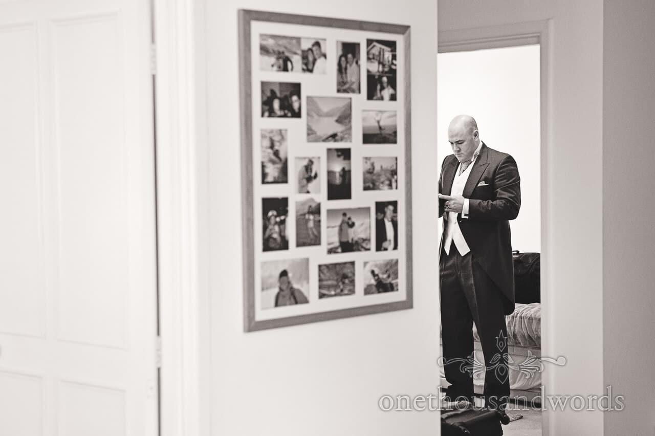 One Groomsman at Studland Bay House Wedding