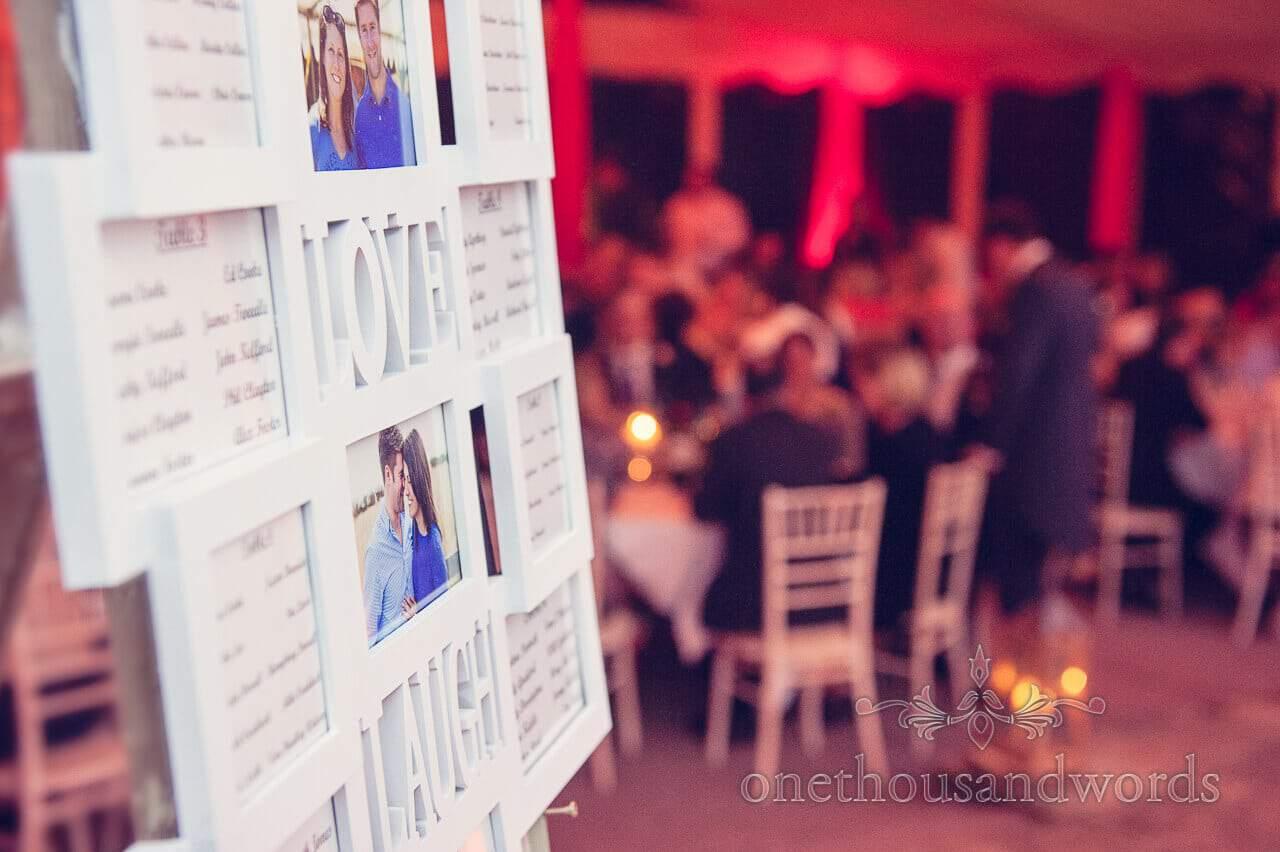 Table plan at Studland Bay House Wedding