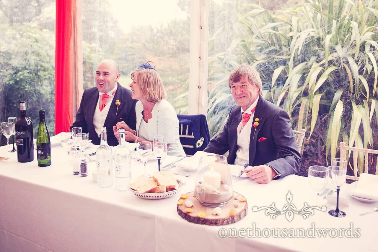 Top table guests at Studland Bay House Wedding