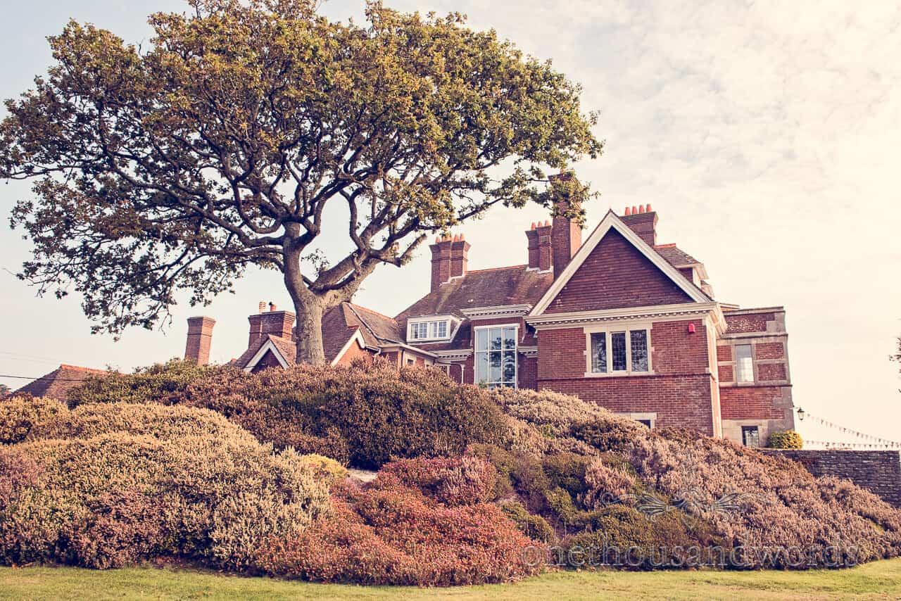 View of Studland Bay House Wedding