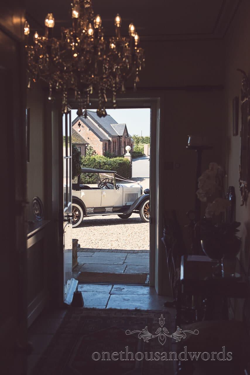 Wedding car at Parley Manor Wedding