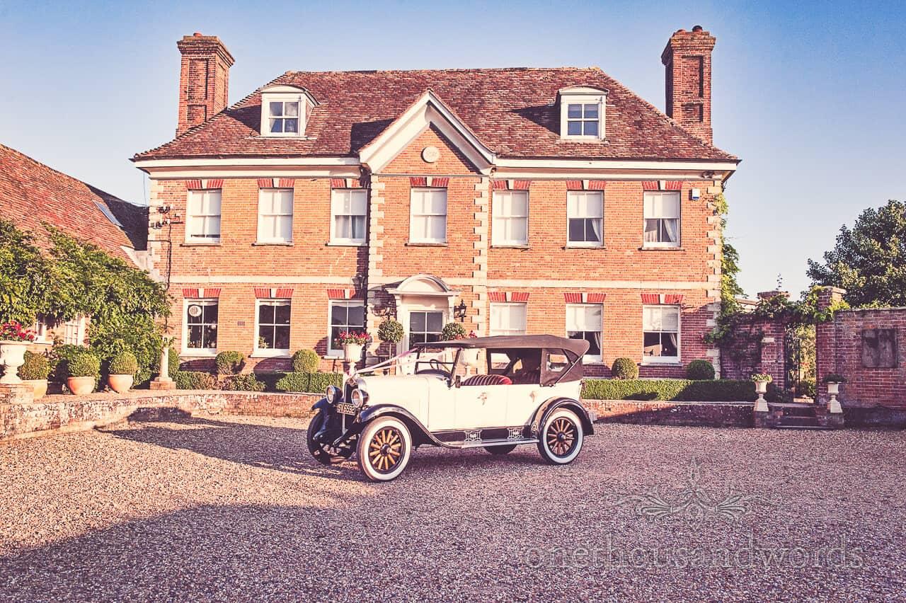 Wedding car outside Parley Manor Wedding