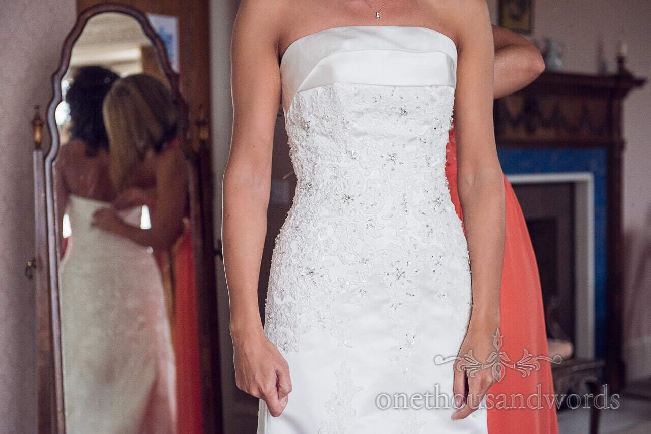 Wedding Dress at Studland Bay House