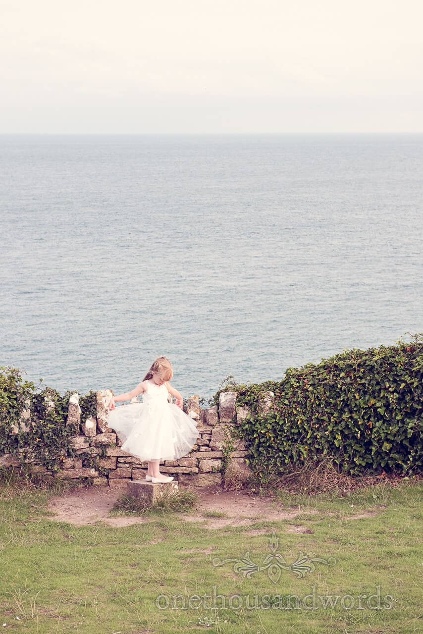 Young Guest at Dorset Castle Wedding